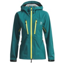 Haglofs P3 Zenith Q Proof Jacket - Waterproof, Recycled Materials (For Women) in Teal Blue - Closeouts