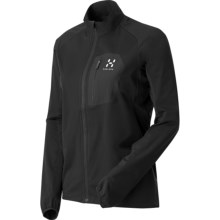 Haglofs Pace Q Soft Shell Jacket (For Women) in True Black - Closeouts