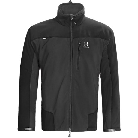 Haglofs Pelamis Soft Shell Jacket - Windstopper® (For Men) in Charcoal/Black