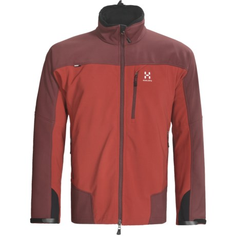 Haglofs Pelamis Soft Shell Jacket - Windstopper® (For Men) in Deep Red/Mellow Red