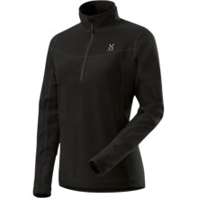 Haglofs Polartec® Classic Microfleece Pullover - Zip Neck, Long Sleeve (For Women) in Black - Closeouts