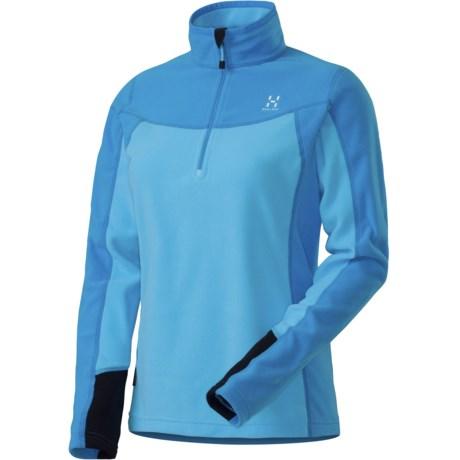 Haglofs Polartec® Classic Microfleece Pullover - Zip Neck, Long Sleeve (For Women) in Celestial Blue/Powder Blue