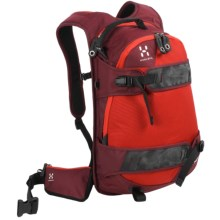 Haglofs Powder Poetry Snowsport Backpack - 18L in Mellow Red/ Deep Red - Closeouts