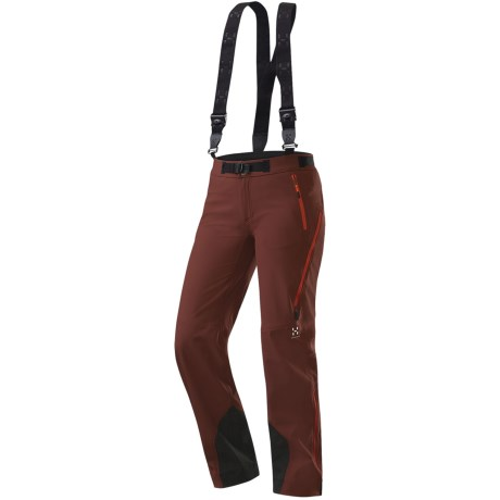 Haglofs Rando Q Soft Shell Pants (For Women) in Mellow Red