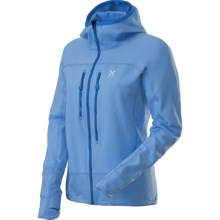 Haglofs Rando Q Stretch Hood Jacket (For Women) in Mist Blue - Closeouts