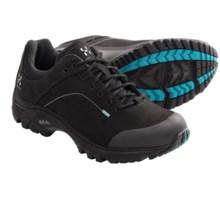 Haglofs Ridge Q Trail Shoes - Nubuck (For Women) in Black/Kolibri Blue - Closeouts
