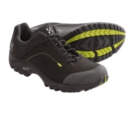 Haglofs Ridge Trail Shoes - Nubuck (For Men) in Black/Budgie Green