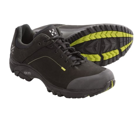 Haglofs Ridge Trail Shoes - Nubuck (For Men) in Black/Budgie Green