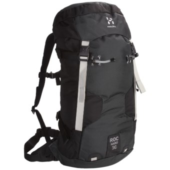 Haglofs Roc Hard Climbing Backpack in Black/Charcoal