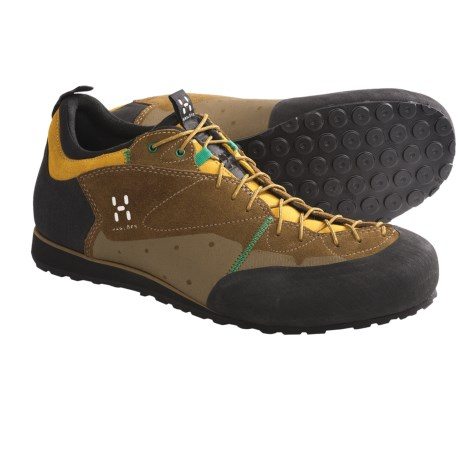 Haglofs Roc Legend Approach Shoes - Suede (For Men) in Malt/ Verdigris