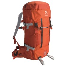 Haglofs Roc Rescue 40 Climbing Backpack in Sunset/Orange Rush - Closeouts