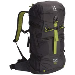 Haglofs Roc Speed Climbing Backpack in Black/Charcoal