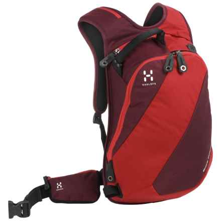 Haglofs Snow Passion  Snowsport Backpack - 14L in Mellow Red/ Deep Red - Closeouts