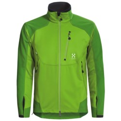 Haglofs Soft Shell Jacket - Windstopper® (For Men) in Lush Green/Basil Green