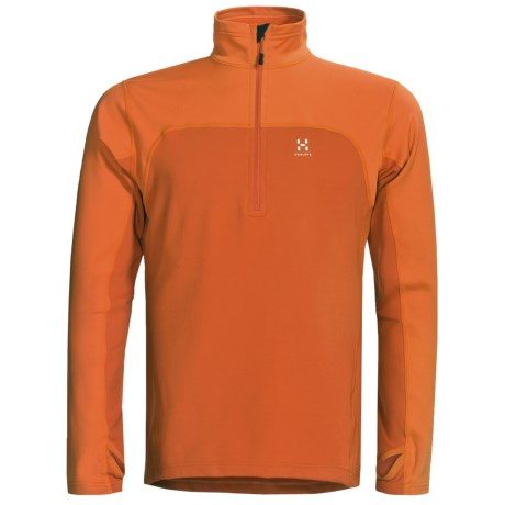 Haglofs Stem II Dry Skin Pullover Jacket - Zip Neck (For Men) in Sunset/Orange Rush