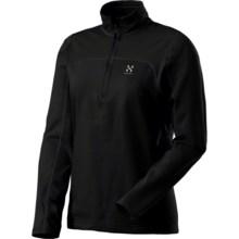 Haglofs Stem II Q Fleece Shirt - Zip Neck, Long Sleeve (For Women) in True Black - Closeouts