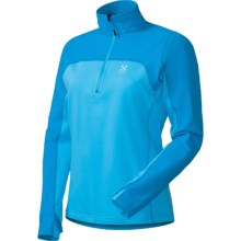 Haglofs Stem II Q Pullover - Zip Neck, Long Sleeve (For Women) in Celestial Blue/Oxy Blue - Closeouts