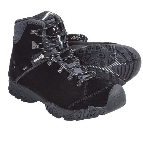 Haglofs Stroll Gore-Tex® Hiking Boots - Waterproof, Suede (For Men) in Black/Silver