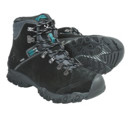 Haglofs Stroll Gore-Tex® Hiking Boots - Waterproof, Suede (For Women) in Black/Kolibri Blue