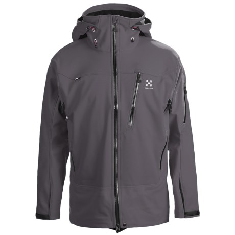 Haglofs Suta Hood Windstopper® Jacket - Soft Shell (For Men) in Graphite/Charcoal