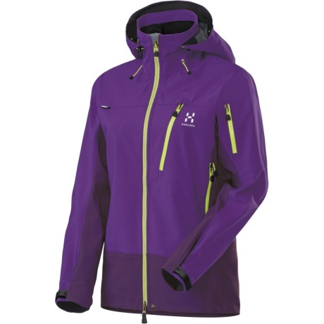 Haglofs Suta Hood Windstopper® Jacket - Soft Shell (For Women) in Dragon/Triffid