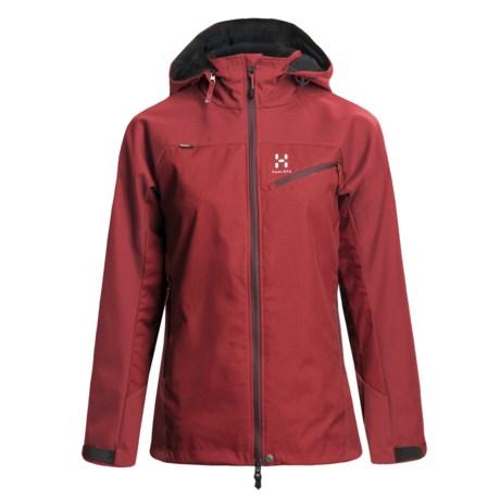 Haglofs Talus Windstopper® Jacket - Soft Shell (For Women) in Deep Red