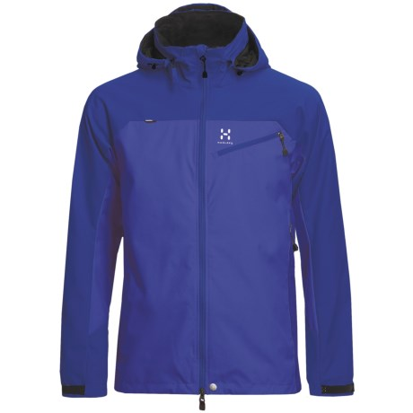 Haglofs Talus Windstopper® Soft Shell Jacket (For Men) in Meso Blue/Abyss