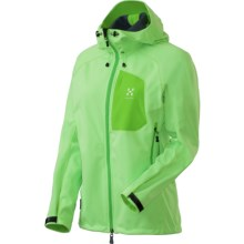 Haglofs Ulta Q Hood Soft Shell Jacket - Windstopper® (For Women) in Pistachio - Closeouts
