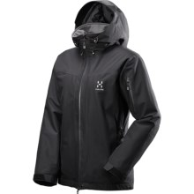 Haglofs Utvak II Q PROOF Jacket - Waterproof (For Women) in True Black/Magnetite - Closeouts
