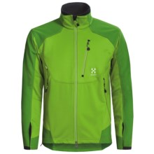 Haglofs Windstopper® Jacket - Soft Shell (For Men) in Lush Green/Basil Green - Closeouts