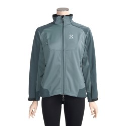 Haglofs Windstopper® Jacket - Soft Shell (For Women) in Aqua Green/Fjord Green