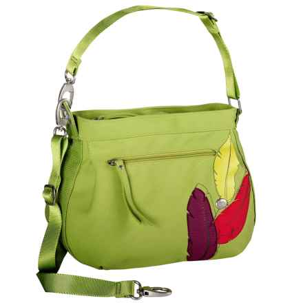 Haiku Bucket Shoulder Bag - Recycled Materials (For Women) in Apple Green - Closeouts