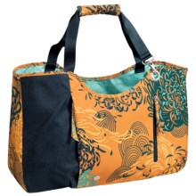 Haiku Day Tote Bag (For Women) in Amber Mum Toss Print - Closeouts
