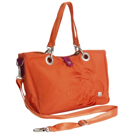 Haiku Handlebar Tote Bag - Recycled Materials (For Women) in Sienna Modern Flower