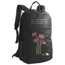 Haiku Rumi Backpack - Recycled Materials (For Women) in Blossom/Black - Closeouts