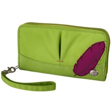 Haiku Zip Wallet - Wrist Strap (For Women) in Apple Green - Closeouts