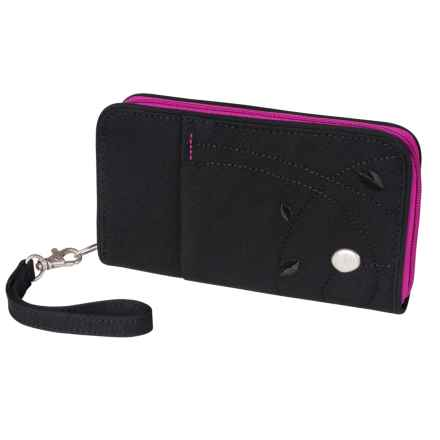 Haiku Zip Wallet - Wrist Strap (For Women) in Black - Closeouts