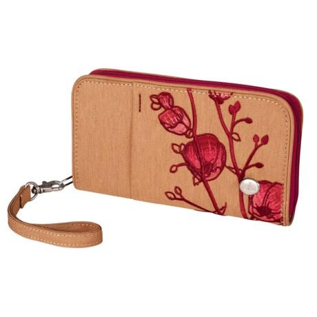 Haiku Zip Wallet - Wrist Strap (For Women)