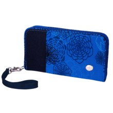 Haiku Zip Wallet - Wrist Strap (For Women) in Tie Dye Midnight - Closeouts