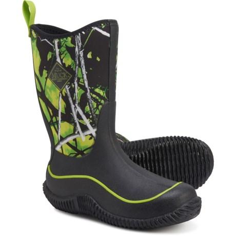 Hale Neoprene Boots - Waterproof, Insulated (For Boys) - GREEN/CAMO (3C )