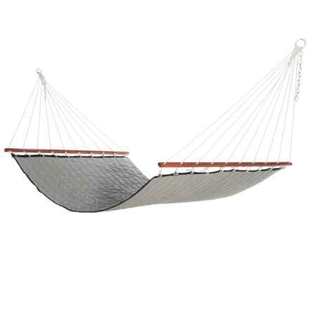 "Hammock Source Quilted Maritime Hammock - 2-Person, 78x51"" in Onyx - Closeouts"