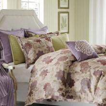 Hampton Hill by JLA Evie Comforter Set - King, 7-Piece in Purple Floral - Closeouts