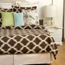 Hampton Hill by JLA Garden View Comforter Set - Queen, 9-Piece in Brown - Closeouts