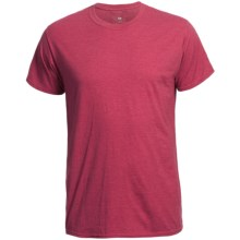 Hanes 50/50 Lite T-Shirt - Short Sleeve (For Men and Women) in Red Heather - 2nds