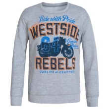 Hanes 50/50 Printed Sweatshirt - Crew Neck (For Little and Big Boys) in Grey Heather Ride With Pride - 2nds