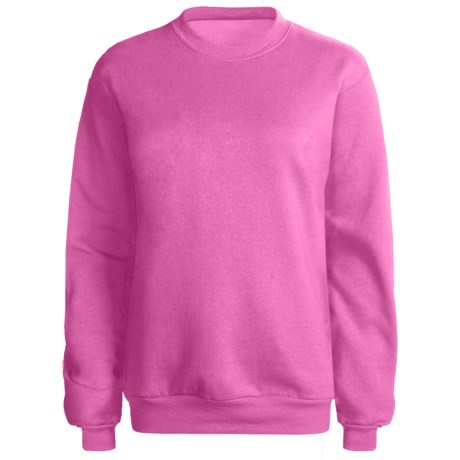 Hanes 50/50 Sweatshirt (For Women) in Pink