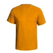 Hanes 5.2 oz Heavyweight 50/50 T-Shirt - Short Sleeve (For Men and Women) in Gold - 2nds