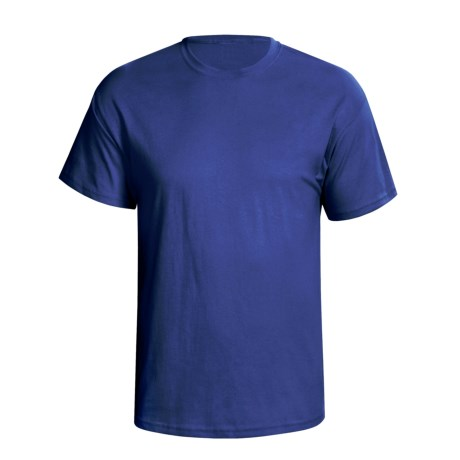 Hanes 5.2 oz Heavyweight 50/50 T-Shirt - Short Sleeve (For Men and Women) in Navy