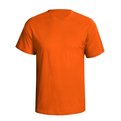 Hanes 5.2 oz Heavyweight 50/50 T-Shirt - Short Sleeve (For Men and Women) in Orange