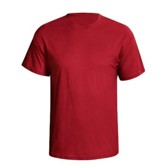 Hanes 5.2 oz Heavyweight 50/50 T-Shirt - Short Sleeve (For Men and Women) in Red
